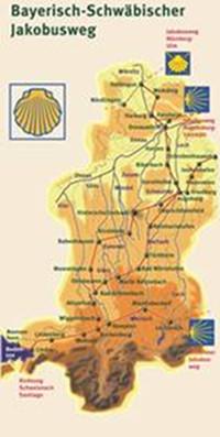 Schwaben Karte Deutschland.Pilgerwege In Bayerisch Schwaben Jakobuspilgergemeinschaft